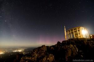 Aurora Australis Mt Wellington Jan 2014