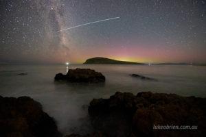 aurora australis southern lights south arm tasmania feb 2021