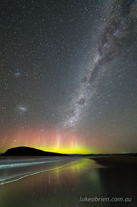 aurora australis south arm tasmania august 19 2018