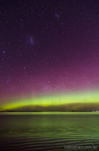 Is solar maximum 2013 over? Aurora Australis Tasmania, October 8 2012.