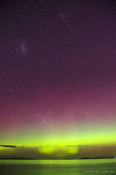 Aurora Australis, Seven Mile Beach, Tasmania