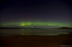 Aurora Australis in Tasmania, 7 Mile Beach, September 2012