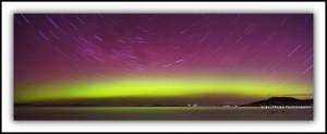 Aurora Australis Tasmania Startrails