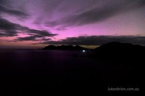 Aurora Cape Tourville Tasmania