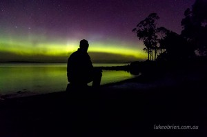 Aurora chasing in Tasmania