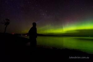 Aurora chasing Tasmania