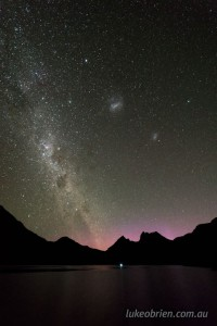 aurora australis cradle mountain tasmania jan 2017