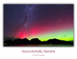 Aurora Australis Coles Bay, Postcard