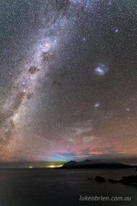aurora milky way freycinet tasmania
