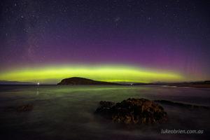 aurora australis south arm tasmania march 2021