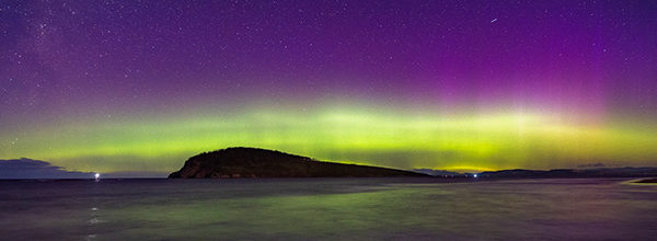 aurora australis south arm tasmania march 2021