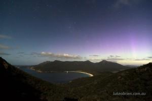 Aurora Wineglass Bay Tasmania