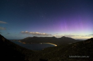 Aurora Wineglass Bay Tasmania