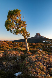 Barn Bluff at dusk, Tasmania