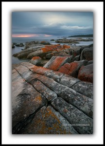 Bay of Fires, Dawn. Binalong Bay.