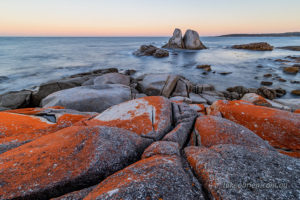 Grants Point in the Bay of Fires at dusk