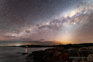Bay of Fires night shoot