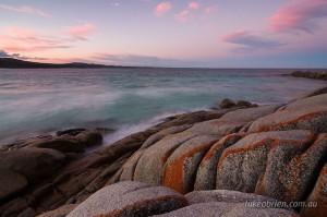 Binalong Bay sunset Bay of Fires