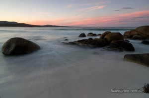 Binalong Bay sunset, Bay of Fires Tasmania