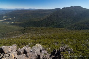 Collins Bonnet from the Devils Throne, Mt Wellington