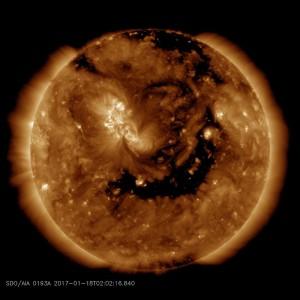 coronal hole january 18 2017