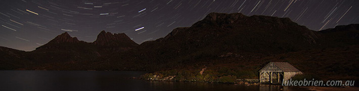 Startrails at the Cradle Mountain Boatshed