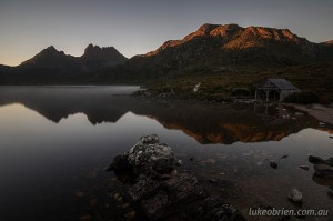Sunrise and sunset photos, Cradle Mountain and Dove Lake, Tasmania