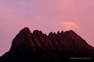 The jagged dolerite of Cradle Mountain