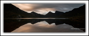 P4: Cradle Mountain, silhouette and reflections
