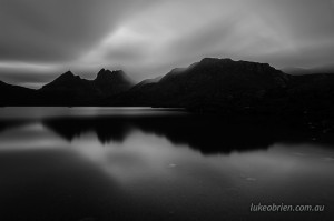 Black and White Cradle Mountain Dove Lake