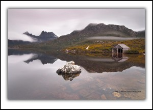 Boatshed, Dove Lake and Cradle Mountain