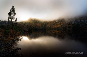 Stunning morning light and mist over Cradle Mountain