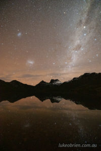 Cradle Mountain and Dove Lake night photography