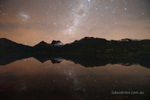 night sky photography cradle mountain and dove lake