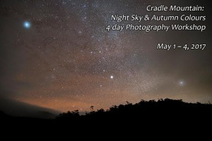 Cradle Mountain Night Sky photography workshop.