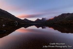Cradle Mountain - sunrise at Dove Lake