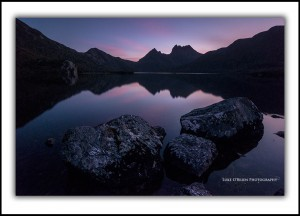 Cradle Mountain sunset Dove Lake