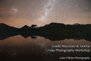 night sky photography shoot at Cradle Mountain