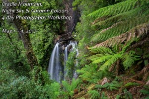 Philosopher Falls - Cradle Mountain Night Sky & Waterfalls Photography Workshop