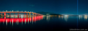Panorama on the Lindisfarne side of the Tasman Bridge with Spectra
