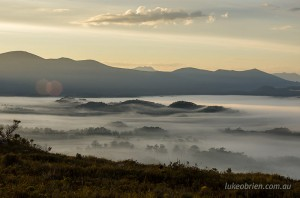 dawn red knoll lookout tasmania