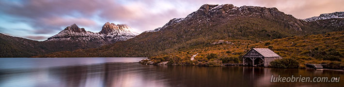 Dusk at the Cradle Mountain Boatshed