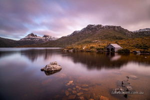 Dusk Cradle Mountain Boatshed