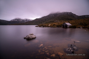 Dusk at the boat shed, Cradle Mountain