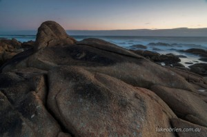 Sunset Granville Harbour in Tasmania's Tarkine