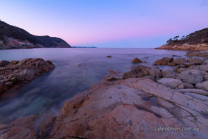 Dusk Bluestone Bay Freycinet Tasmania