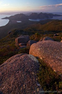 Freycinet Peninsula Circuit - evening on Mt Graham
