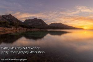 Sunset at Honeymoon Bay, Freycinet National Park