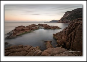 Seascape Freycinet Sleepy Bay Dusk