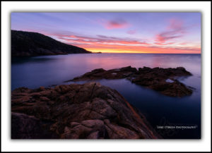 Sunrise, Sleepy Bay. Freycinet National Park